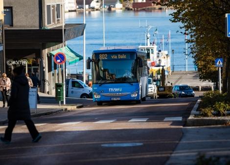 Buss i Kristiansund sentrum