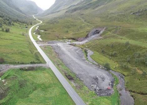 Foto av Indreeide - tunnellpåbygg og riggområde