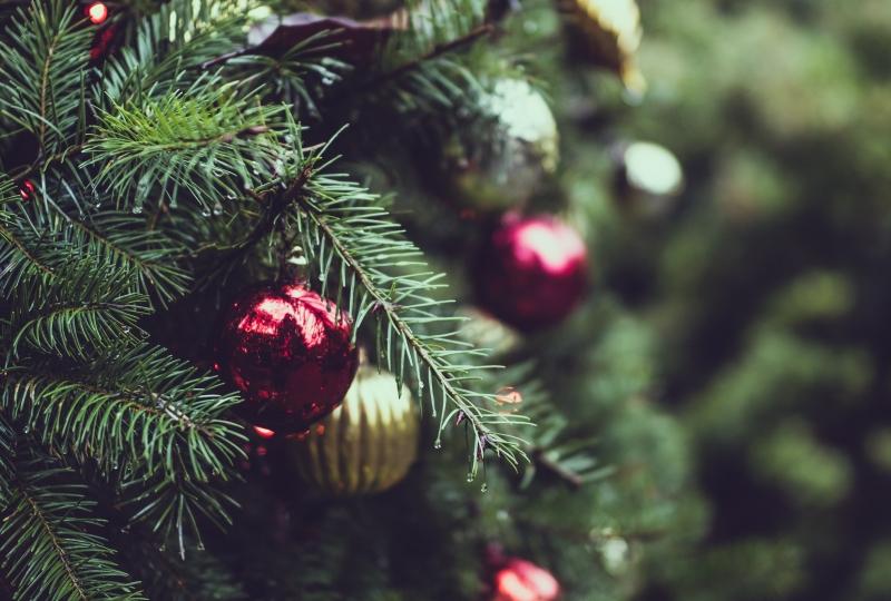 greiner av gran pynta til jul