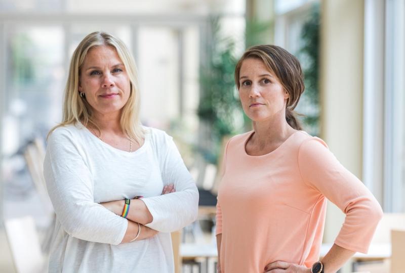 Bilde av mobbeombod Kristin Øksenvåg og elev- og lærlingombod Tove Regine Stranden.
